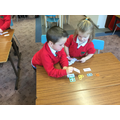 We play lots of games to help us remember our high frequency words. Her