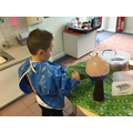 We made one of our nusery rhyme characters using papier-mâché. Can you guess who it is?