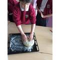 Making bread for the Viking Feast