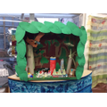 Our dinosaur cave filled with junk modelling.