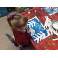 Creating winter tree pictures for arts week.