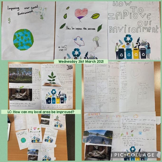 We made leaflets about how we could improve our local area