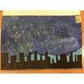 Starry Night inspired art