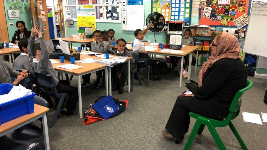 Mrs Maureen Alfreton fielding questions