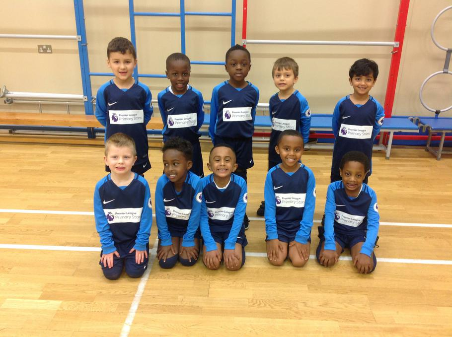 Year 1 in their brand new kit