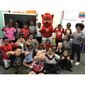 Fred the Red visiting our school