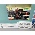 Fred the Red visiting Year 6
