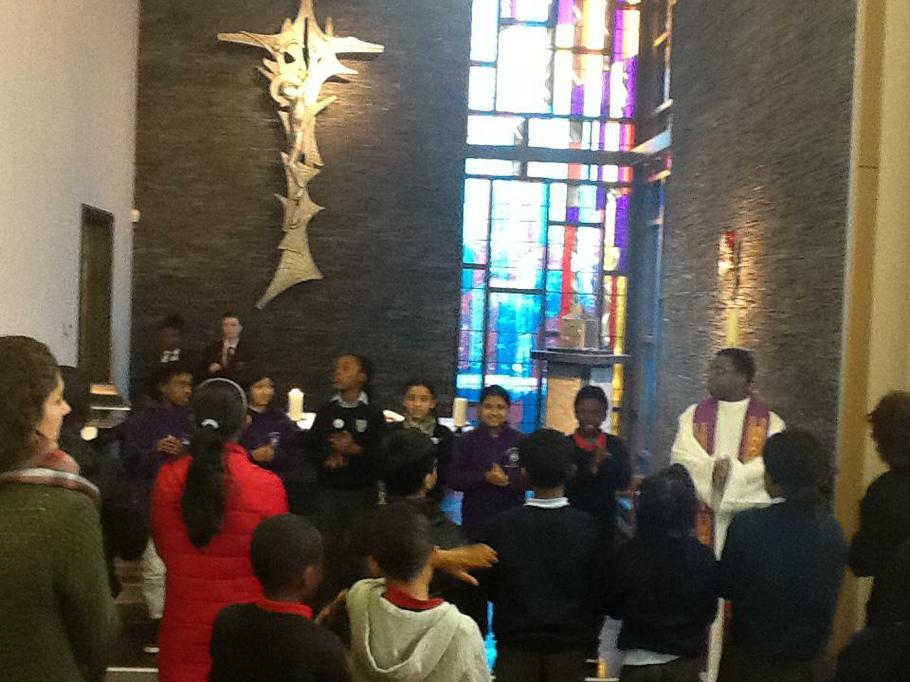Prayer and worship at St Peter's RC High School