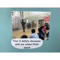 Year 6 Safety discussion with our school PSCO Sabah!