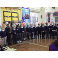 Reception are singing 'Following the star'