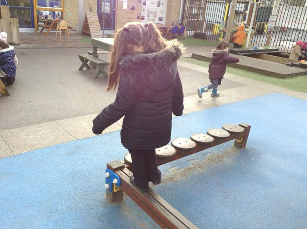 We are learning to balance