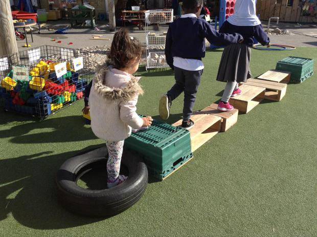 We are learning to balance and control our movements