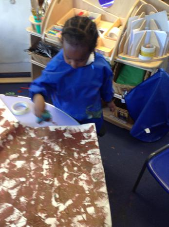 We have been mixing colours to make brown