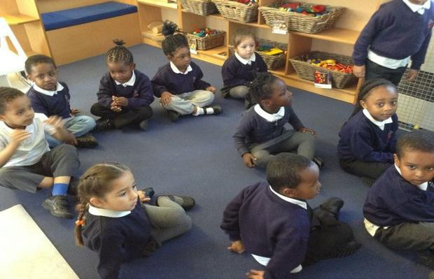 We are learning how to sit nicely during key group sessions