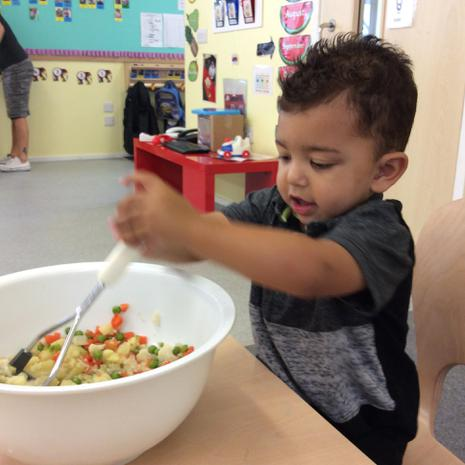 We have been mixing and trying new types of food