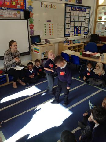 In Red class we have been playing circle games to learn turn taking