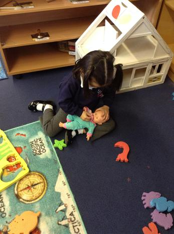 We have been learning to look after the nursery babies