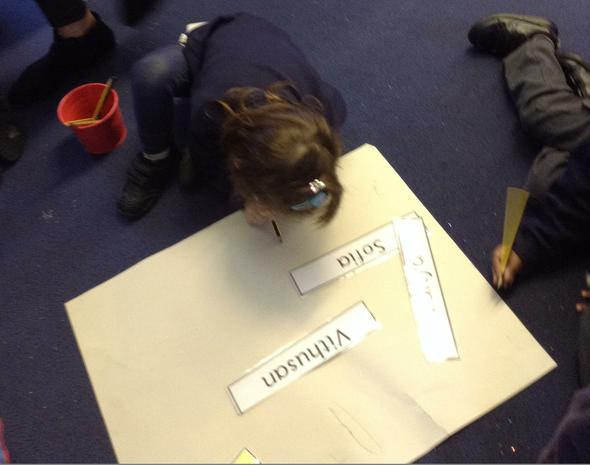We are learning to write our names