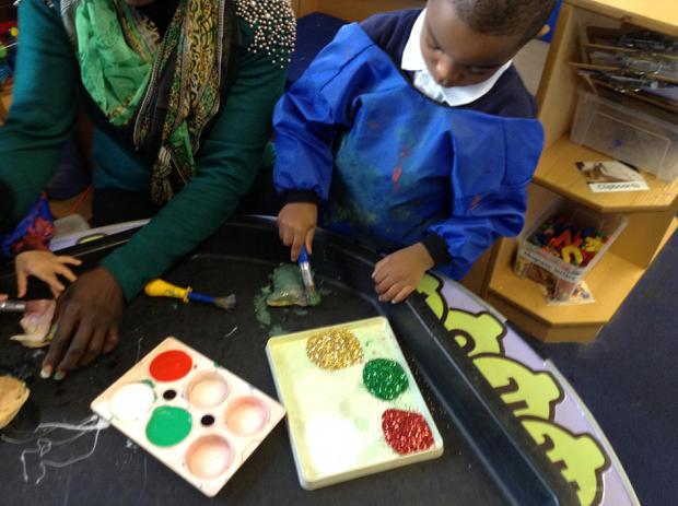 We are learning to use different tools to paint and decorate