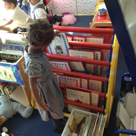 We also enjoy looking at our special books from nursery to see how much we have learned..JPG