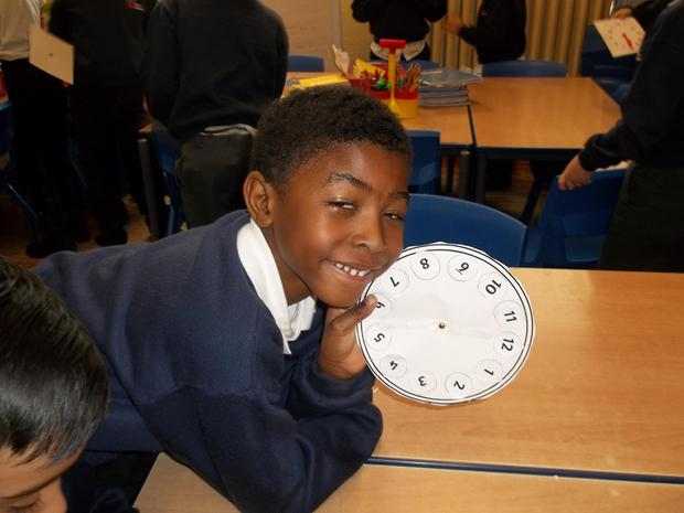 We have been learning how to tell the time.