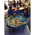 We have been exploring water with sea creatures inside.JPG