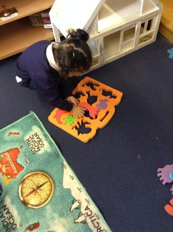 We have been playing with puzzles