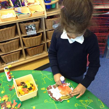 We are learning to use different tools to create pieces of art