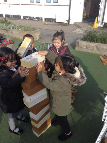 We have been working together to build towers in the outside area