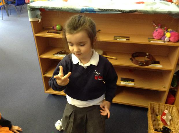 We are beginning to represent numbers on our fingers