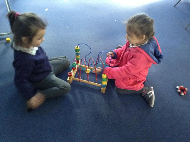 We have been learning to share our toys