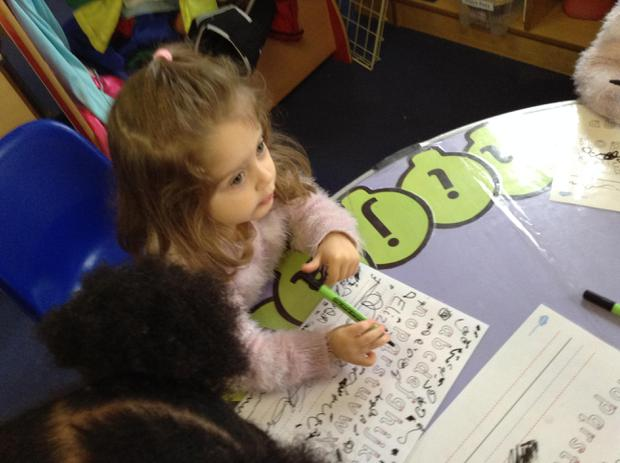 We are learning to form our letters