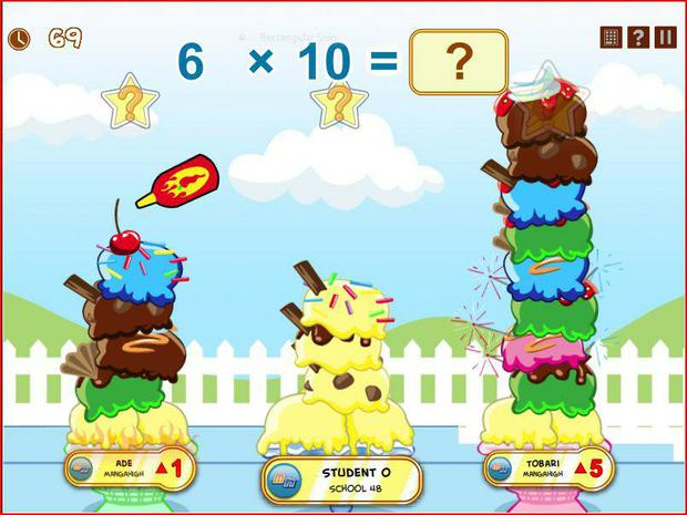 In this maths game you race against two rival players to build the tallest, most incredible ice cream sundae possible!