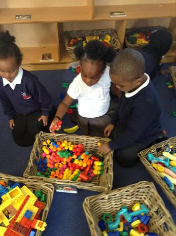 We are learning to sort and tidy the resources in our classroom