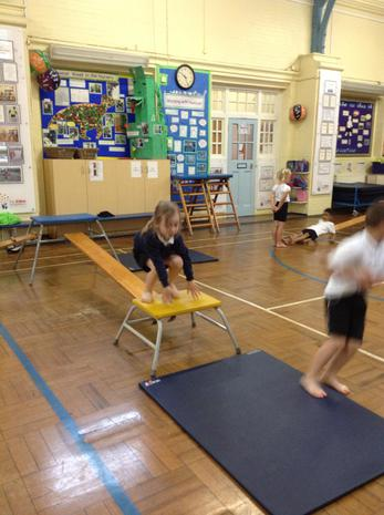 Jumping onto the mat using our squishy landing