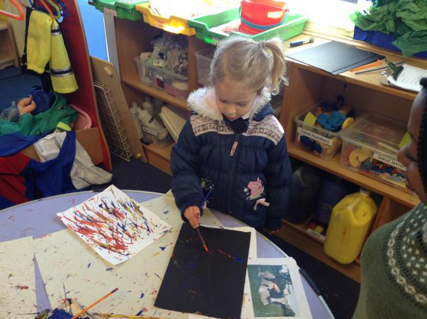 We have been creating our own fireworks for Bonfire night