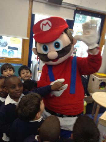 Supermario visited us during our Superhero week.