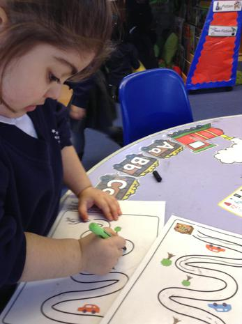We are learning to control our pencils using our muslces