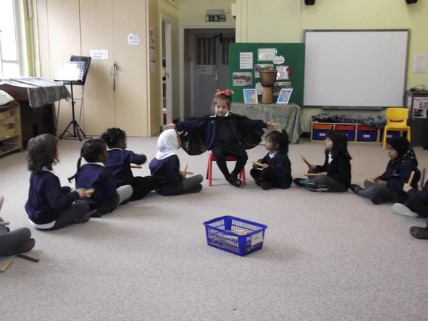 Reception are taking the role of a conductor