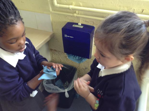 We have been talking about why it is important to wash your hands
