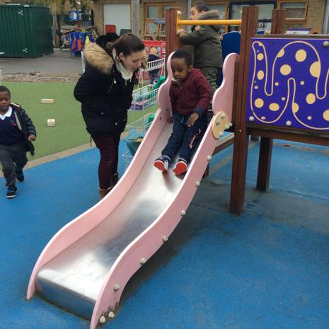 We are developing our muscles through climbing, sliding and jumping