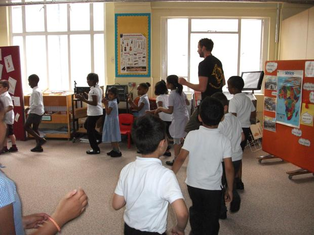 Year 2 body percussion.