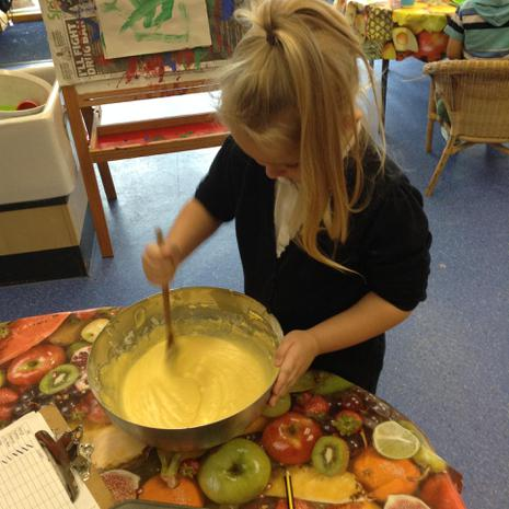 We have been cooking and learning about different healthy foods