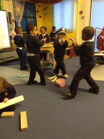 We are learning to communicate with one another during our play
