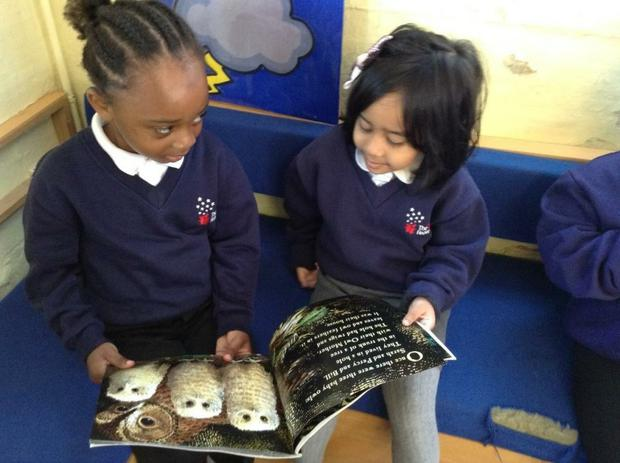 We are reading Owl Babies and learning how to cope when we miss our mummies