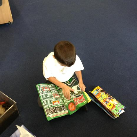 We read lots of different things including comics, magazines and catalogues.JPG