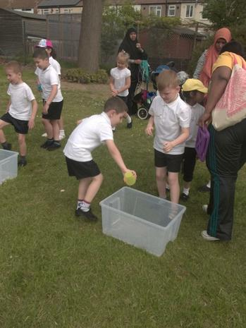 The water race tested our team work skills