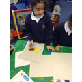 We made a rocket using 2d shapes.JPG