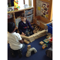 Red class have been making buildings using blocks.JPG