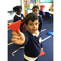We have been exploring 2D shapes and learning their names..JPG